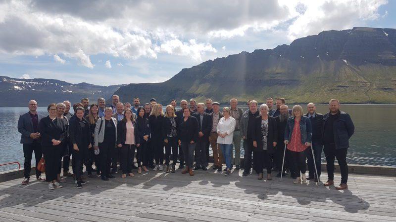 Fundarmenn á ársfundi Austurbrúar og aðalfundi SSA 23. júní 2020.