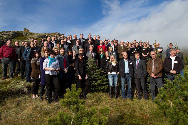 Fundarmenn á aðalfundi SSA 2010 sem haldin var á Breiðdalsvík